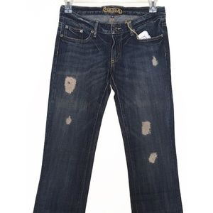 NWT Car Mar bootcut distressed jeans size 26 NEW